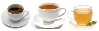 Кофе, шай және бүлдірген шайы